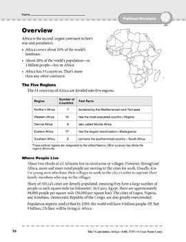 Africa: Political Divisions: Overview & Review