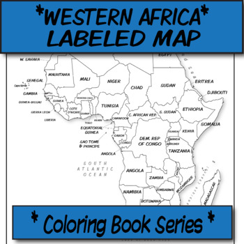 Africa Political Map (Labeled) **Coloring Book Series**