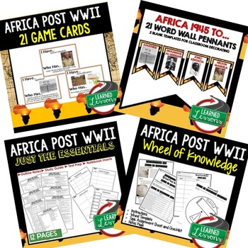Africa Post WWII BUNDLE (World History Bundle), Distance Learning /Print
