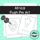 Africa Push Pin Art