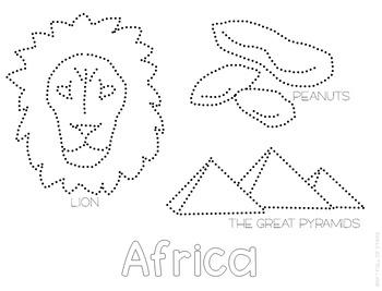 Africa Push Pin Art