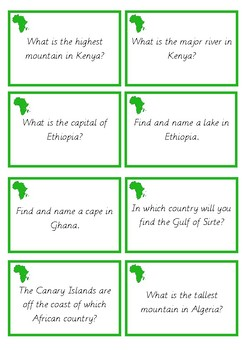 Africa Research Cards