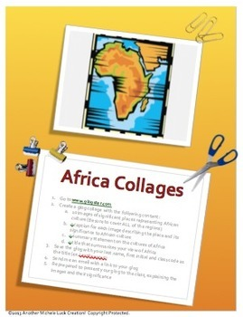 Africa Research & Collage Activity or Assessment