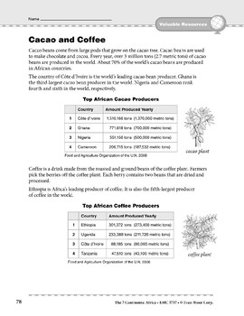 Africa: Resources: Cacao & Coffee