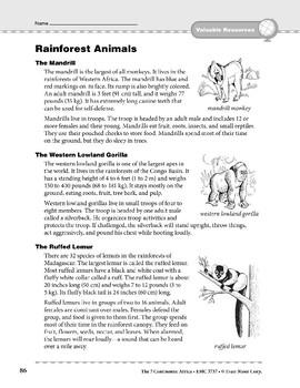 Africa: Resources: Rainforest Animals