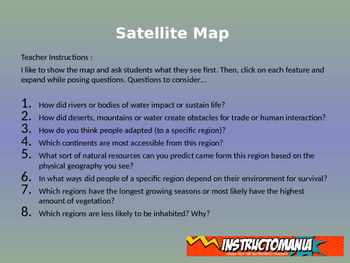 Africa Satellite Map Physical Geography PowerPoint Introduction