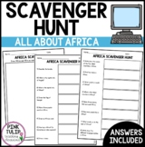 Africa Scavenger Hunt - Research Based