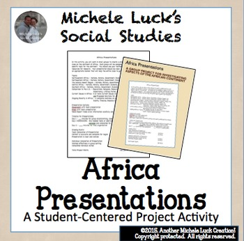 Africa Small Group Presentation Assignment - Study of Africa & Geography