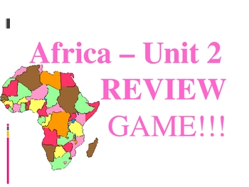 Africa & Southwest Asia History Review Game