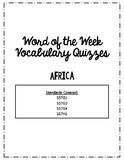 Africa, Southwest Asia and Southern and Eastern Asia Word