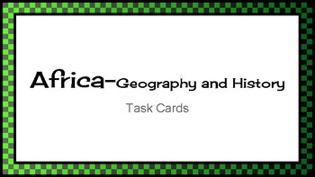 Africa Task Cards