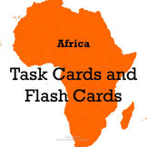 Africa Task Cards and Flash Cards