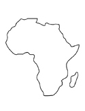 Africa Template Africa Coloring Page Africa Outline African Continent Template