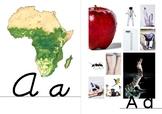 Africa-Themed Alphabet Cards A-Z