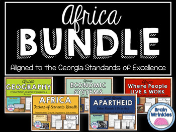 Africa Unit BUNDLE - Geography, Environmental Issues, Ethnic Groups, etc.