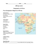Africa Unit Guided Notes