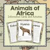 Africa Unit Study: Animals of Africa Information Cards
