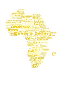 Africa Vocabulary Wordle
