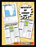 Africa Where in the World Scavanger Hunt & Map Physical Geography