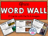 Africa Word Wall