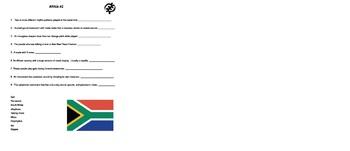 Africa Worksheet- Music 2
