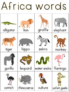 Africa Writing Center Tools: Habitat Words