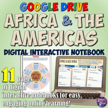 Africa and Mesoamerica Google Drive Interactive Notebook for Distance Learning