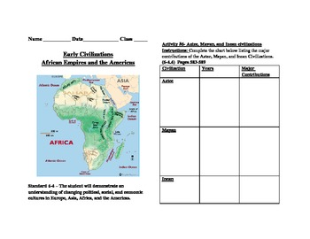Africa and the Americas Booklet