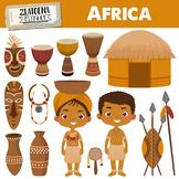 Africa clipart Zulu Tribe Digital Clip Art Africa graphics Travel clip art