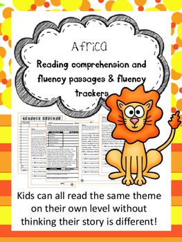 Africa fluency and comprehension leveled passage