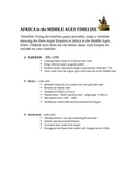 Africa in the Middle Ages (Empire of Mali) Timeline Activity
