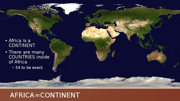 Africa's Geography Powerpoint