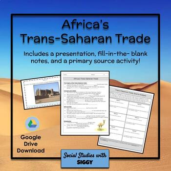 Africa's Trans-Saharan Trade Lesson and Activity