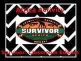 """Africa themed """"Survivor"""" activity"""