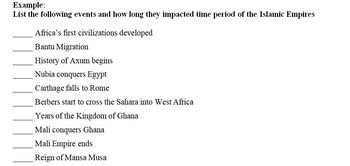 Africa to 1750 Timeline Project