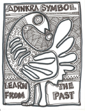 African Adinkra Sankofa Symbol Learn From The Past