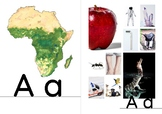 African Alphabet Cards - Phonetic Beginning Sounds