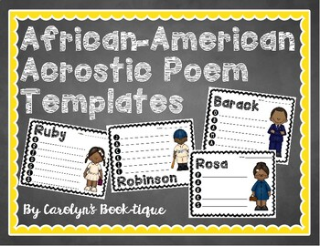 African-American Acrostic Poem Templates