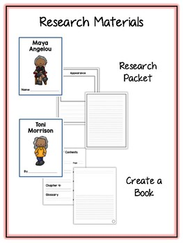 African American Authors Research Project - Vocab Cards, Packet, Book + More!