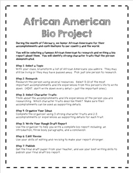 black history project guidelines
