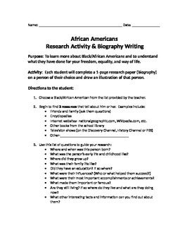 African American Biography Research Project