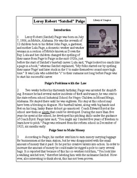 African-American Biography Series-Satchel Paige