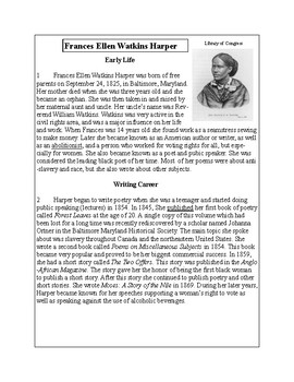 African-American Biography Series-Frances Harper