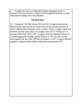 African-American Biography Series-Frederick Douglass