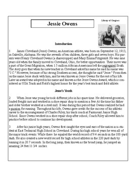 African-American Biography Series-Jessie Owens