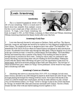 African-American Biography Series-Louis Armstrong
