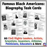 African-American Biography Task Cards for Writing, Speakin