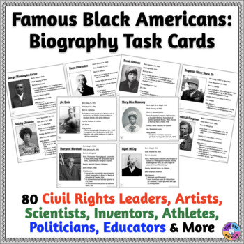 African-American History: Task Cards for Writing, Speaking & Listening Practice