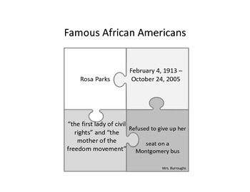 African American Center Puzzles