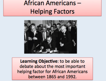 African American Civil Rights Campaigners (1865-1992)